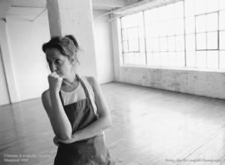 Serena Kovalosky in St-Henri studio, Montreal 1999