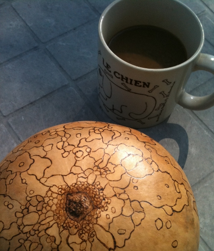 Coffee and Gourd Orb by Serena Kovalosky